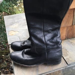 Shoes - FRYE Melissa button leather tall boots